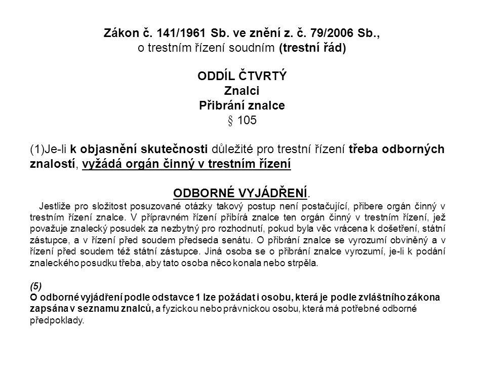 Zákon č. 141/1961 Sb. ve znění z. č.