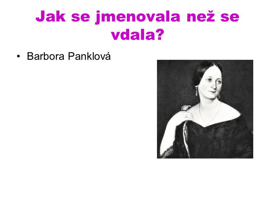 Jak se jmenovala než se vdala Barbora Panklová
