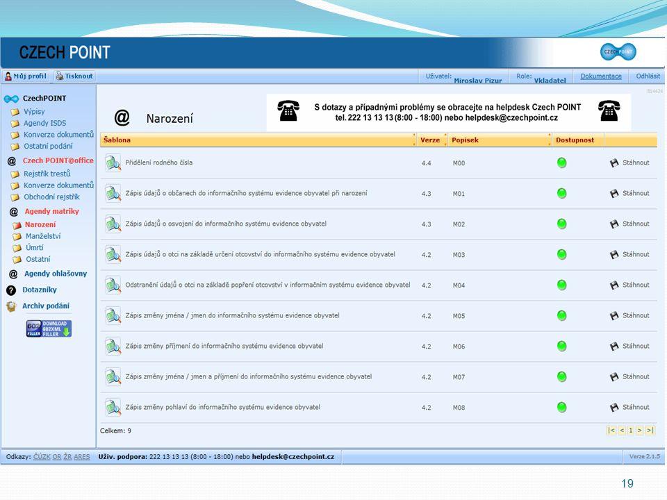 Jak se do ZR dostanu. Czechpoint@office IS DS (formulář) AIS (agendový informační systém) – tj.