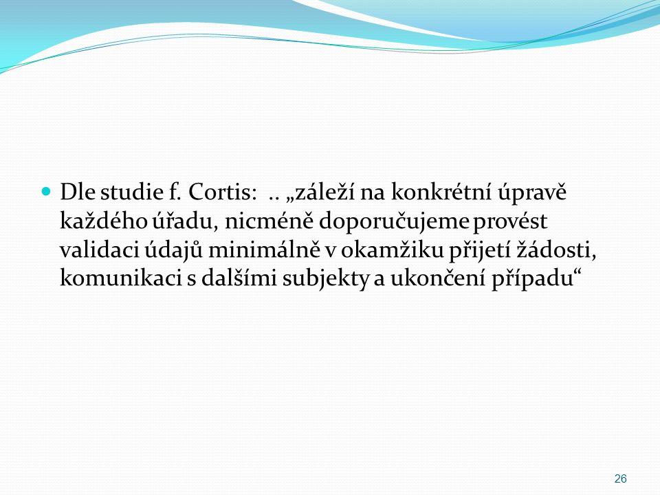 Dle studie f. Cortis:..