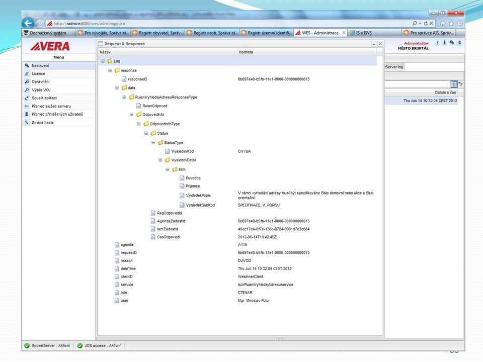 VERA Viewer VERA Viewer jako centrální místo pro základní registry Kartotéka externích subjektů RUIAN (Adresy), ROB (Občané) ROS (Právnické a Fyzické osoby) Přístup bude evidován 30