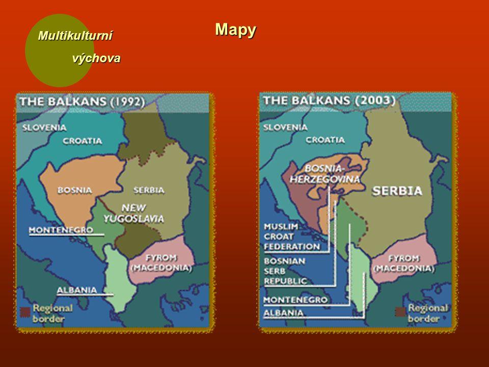 Multikulturní výchova výchova Mapy