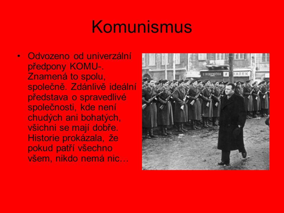 Komunismus Odvozeno od univerzální předpony KOMU-.