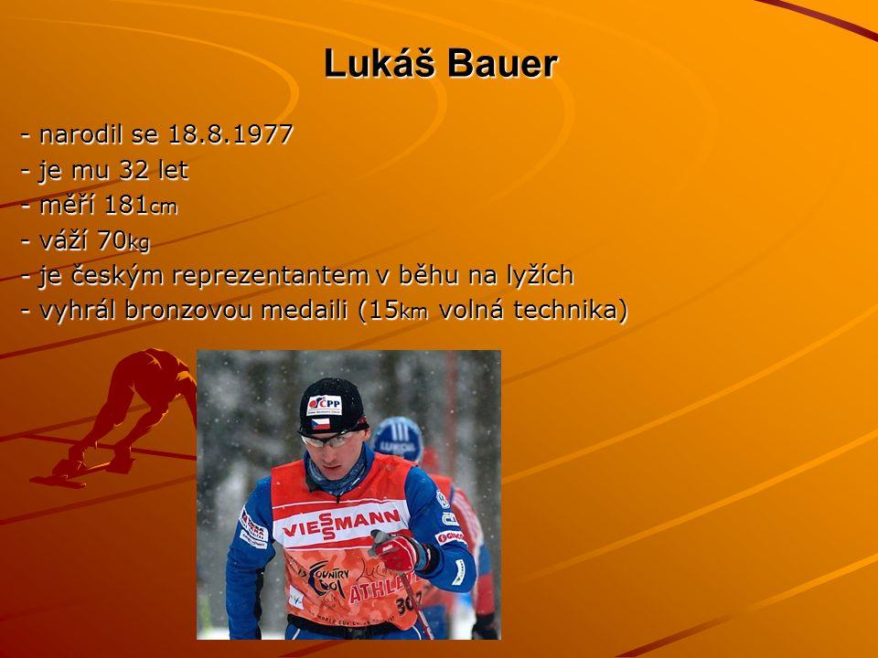 Šárka Záhrobská -narodila se 11.2.1985 -věk:25 -měří 176 cm -váží 68 kg -získala bronzovou medaili ve slalomu