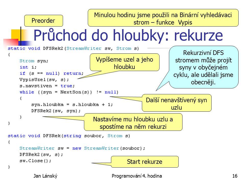 Jan LánskýProgramování 4.