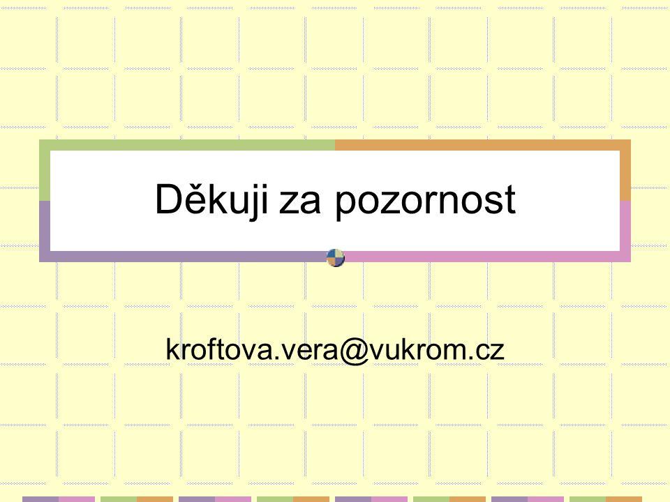 Děkuji za pozornost kroftova.vera@vukrom.cz
