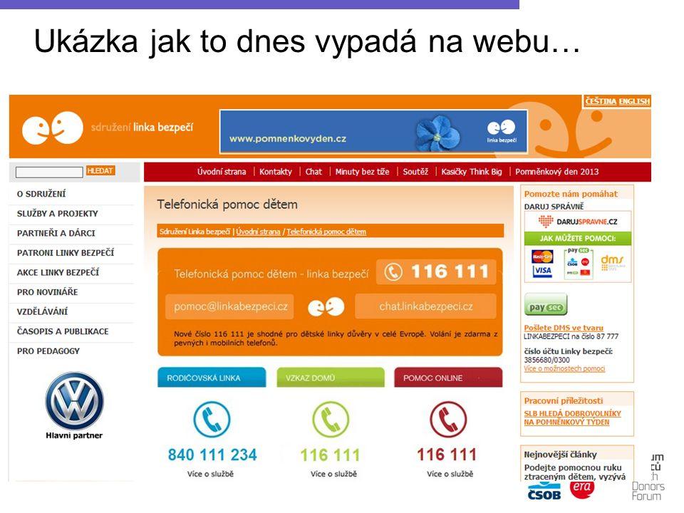 Ukázka jak to dnes vypadá na webu…