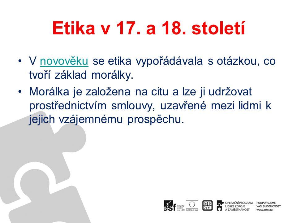 Etika v 17. a 18.