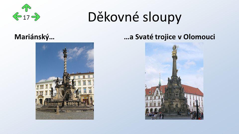Děkovné sloupy Mariánský……a Svaté trojice v Olomouci 17