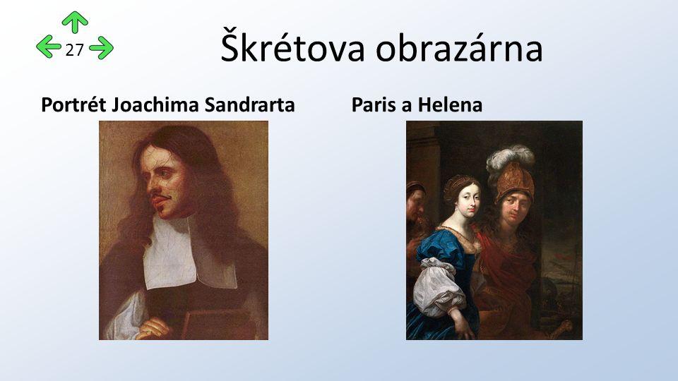 Škrétova obrazárna Portrét Joachima SandrartaParis a Helena 27