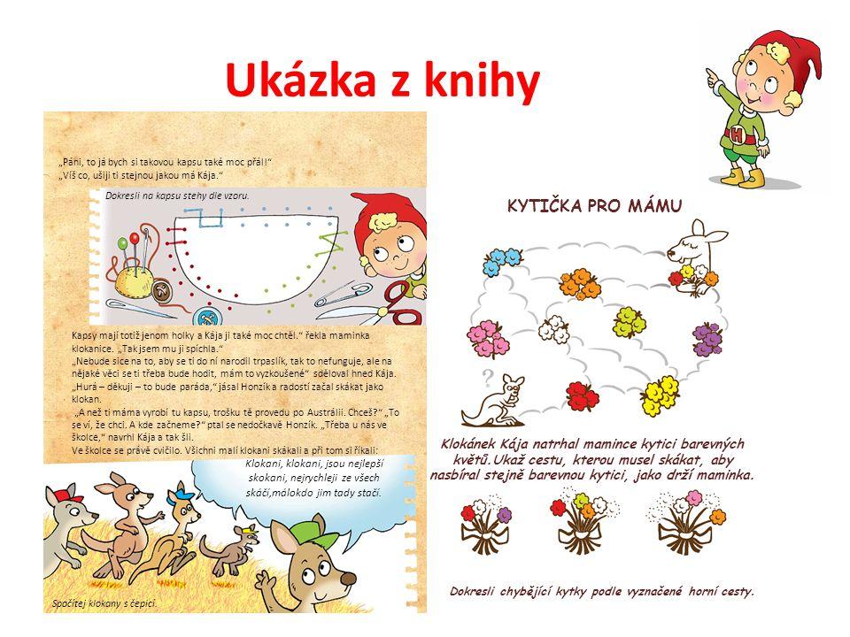 Ukázka z knihy Klokani, klokani, jsou nejlepší skokani, nejrychleji ze všech skáčí,málokdo jim tady stačí.