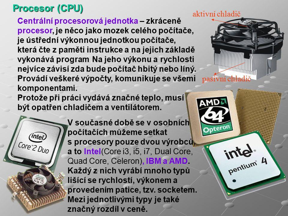 Přídavné karty jsou komponenty počítače, které si zakoupíme zvlášť a mají svou určitou funkci.