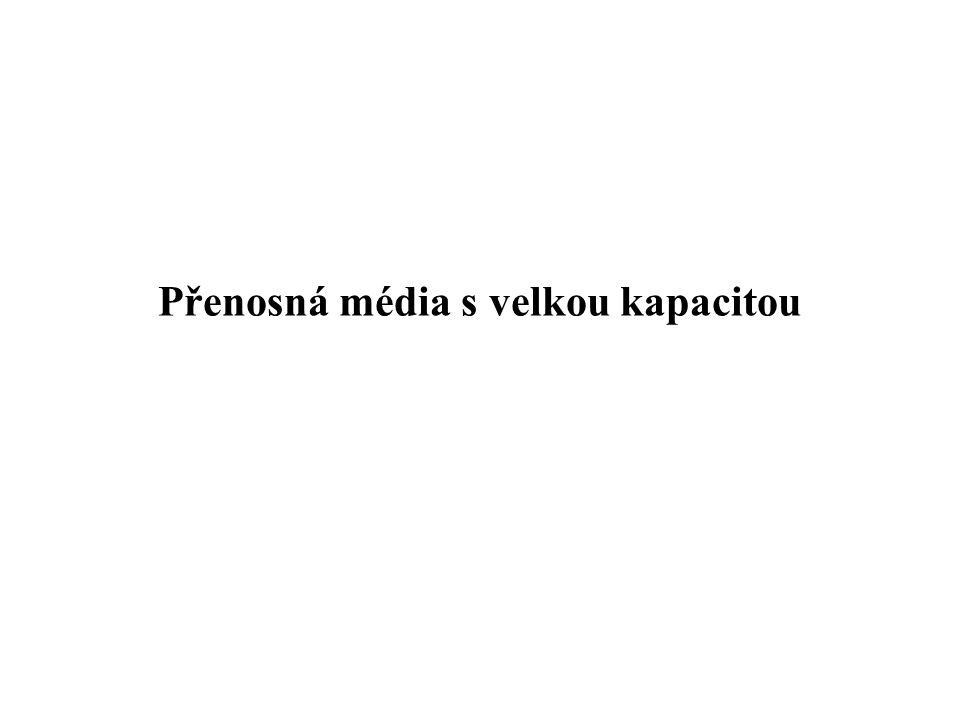 Přenosná média s velkou kapacitou