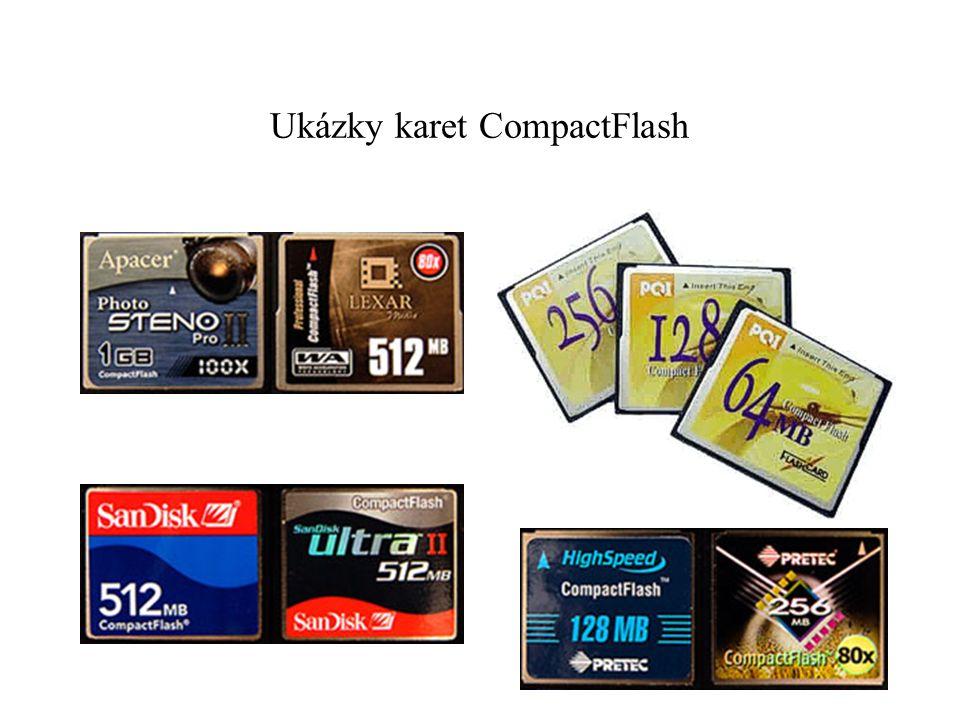 Ukázky karet CompactFlash