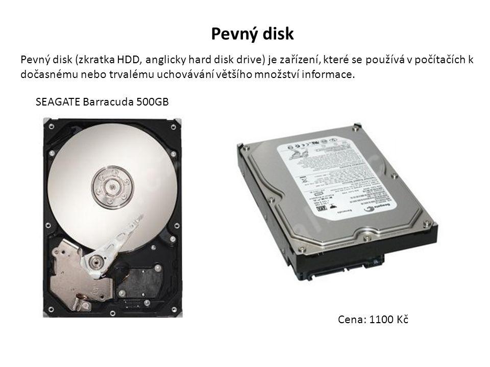 Pevný disk Pevný disk (zkratka HDD, anglicky hard disk drive) je zařízení, které se používá v počítačích k dočasnému nebo trvalému uchovávání většího množství informace.