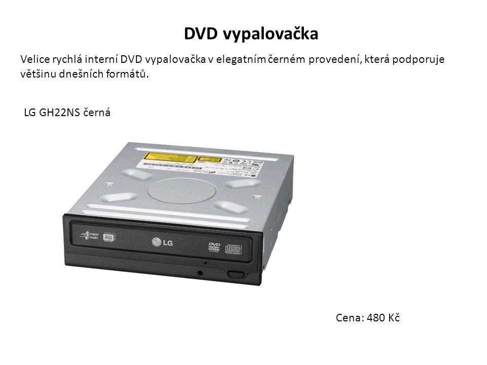 DVD vypalovačka Velice rychlá interní DVD vypalovačka v elegatním černém provedení, která podporuje většinu dnešních formátů.
