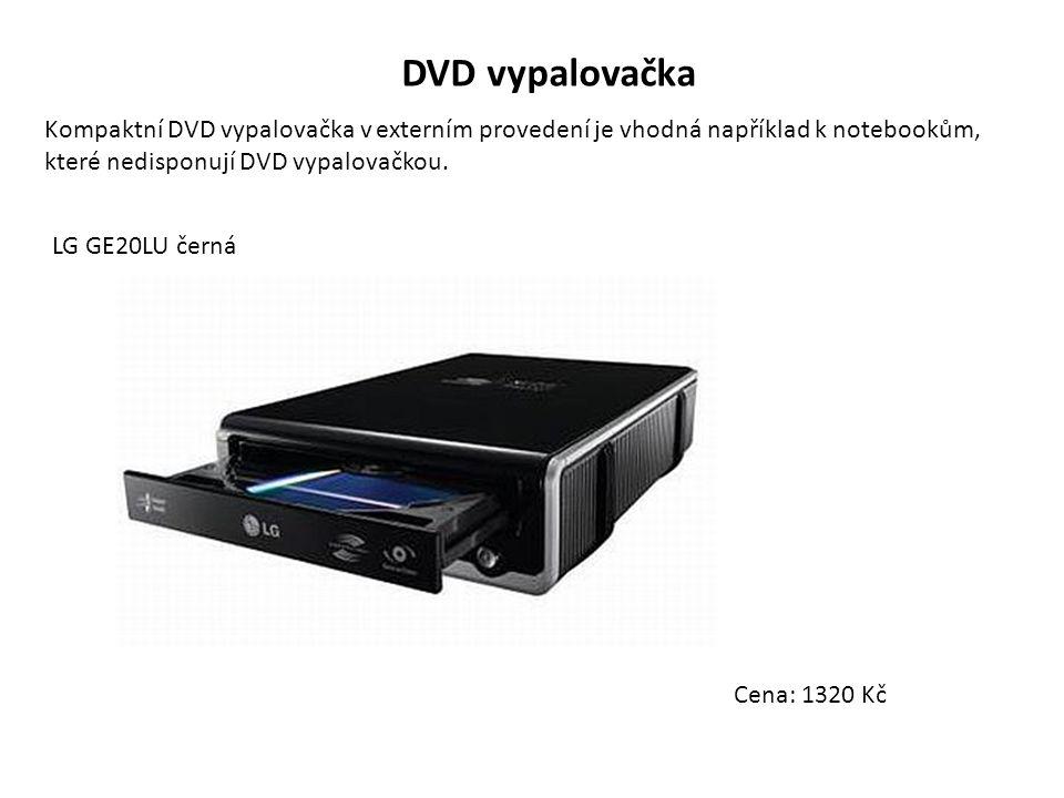 DVD vypalovačka Kompaktní DVD vypalovačka v externím provedení je vhodná například k notebookům, které nedisponují DVD vypalovačkou. LG GE20LU černá C