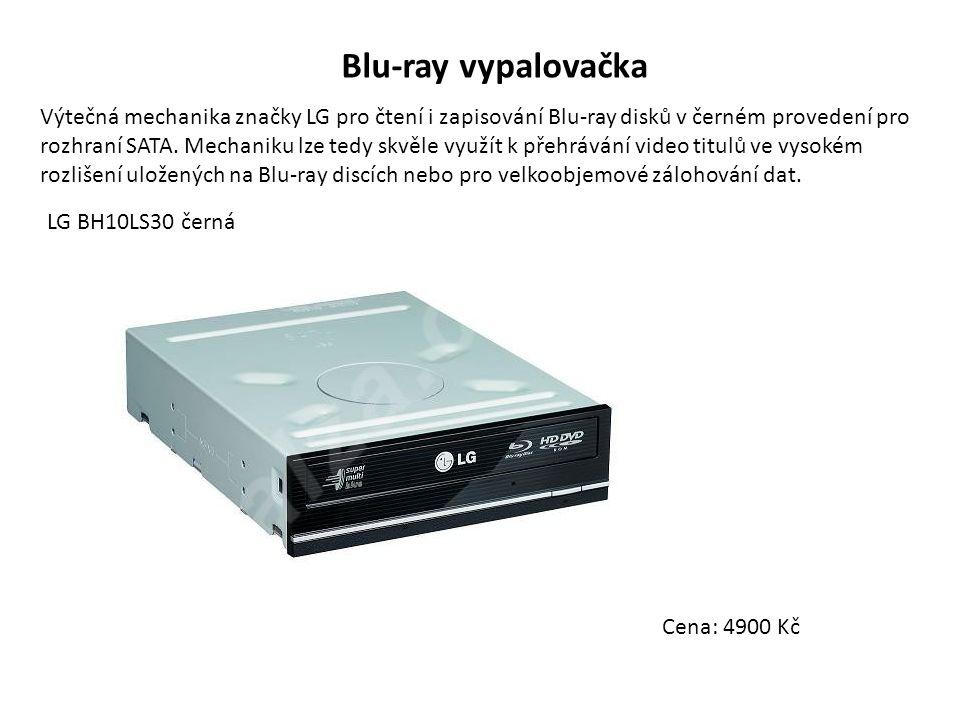 Blu-ray vypalovačka Výtečná mechanika značky LG pro čtení i zapisování Blu-ray disků v černém provedení pro rozhraní SATA.