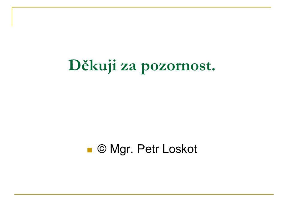 Děkuji za pozornost. © Mgr. Petr Loskot