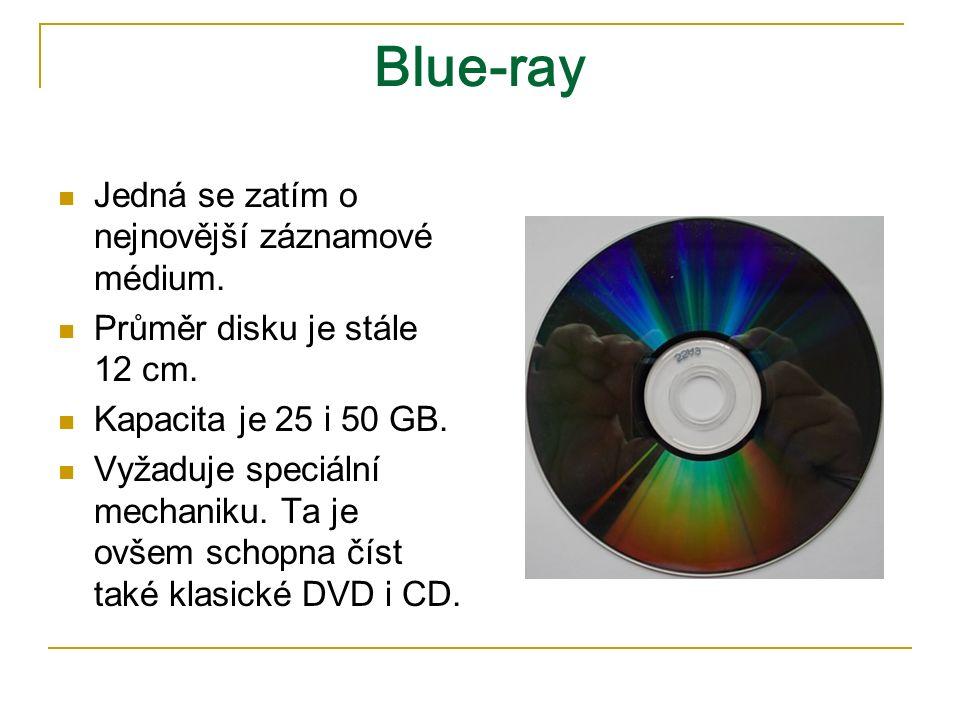 Blue-ray Jedná se zatím o nejnovější záznamové médium.