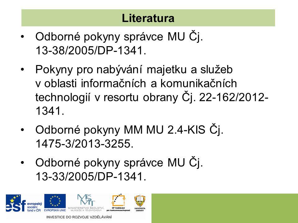 Odborné pokyny správce MU Čj. 13-38/2005/DP-1341.