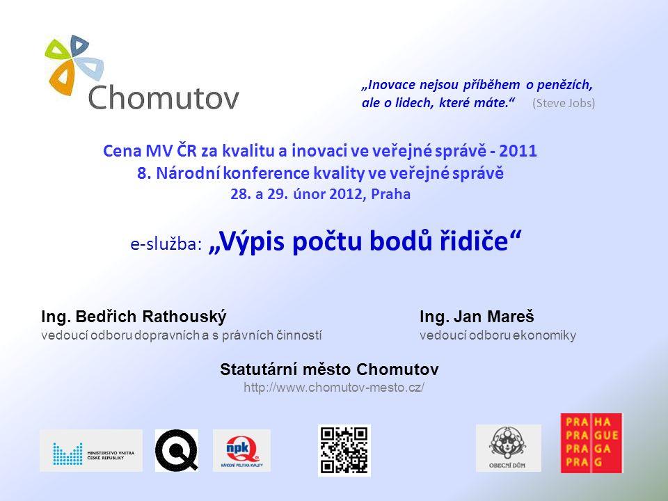 Cena MV ČR za kvalitu a inovaci ve veřejné správě - 2011 8.