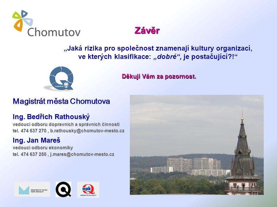 Závěr Magistrát města Chomutova Ing.