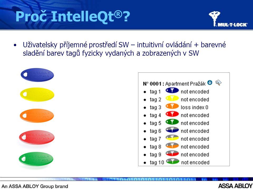 Uživatelsky příjemné prostředí SW – intuitivní ovládání + barevné sladění barev tagů fyzicky vydaných a zobrazených v SW