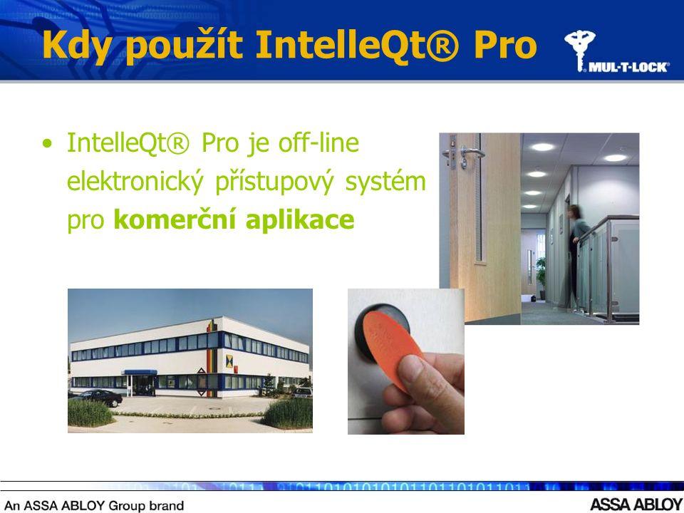Kdy použít IntelleQt® Pro IntelleQt® Pro je off-line elektronický přístupový systém pro komerční aplikace