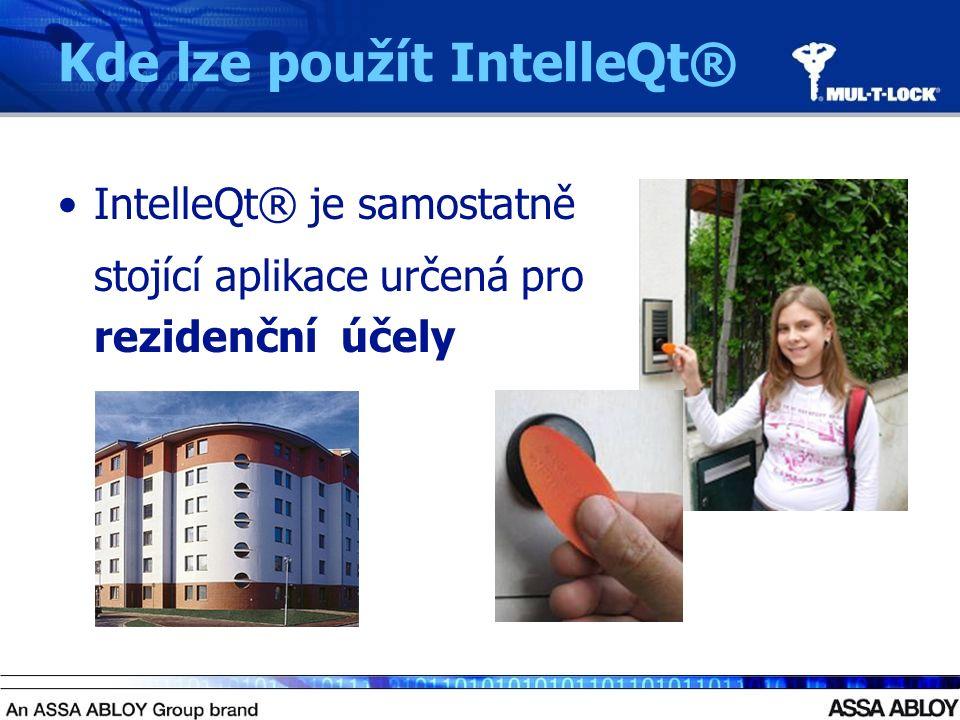 Kde lze použít IntelleQt® IntelleQt® je samostatně stojící aplikace určená pro rezidenční účely