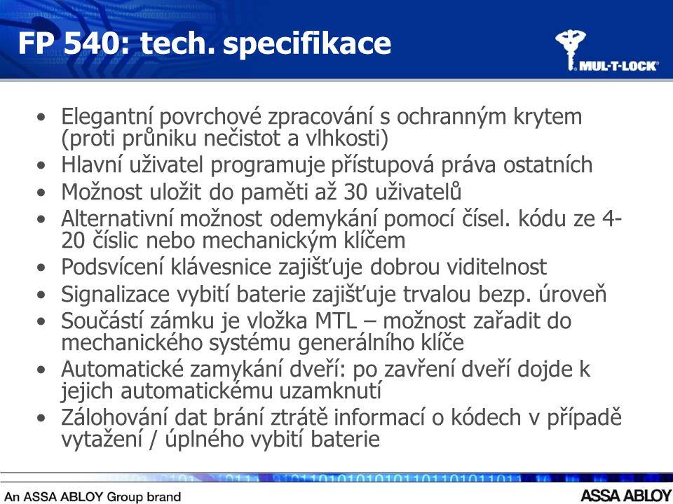FP 540: tech.