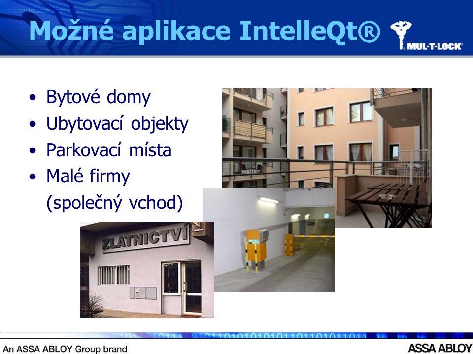 Možné aplikace IntelleQt® Bytové domy Ubytovací objekty Parkovací místa Malé firmy (společný vchod)