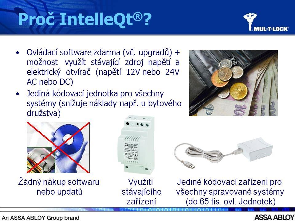 Proč IntelleQt ® . Ovládací software zdarma (vč.
