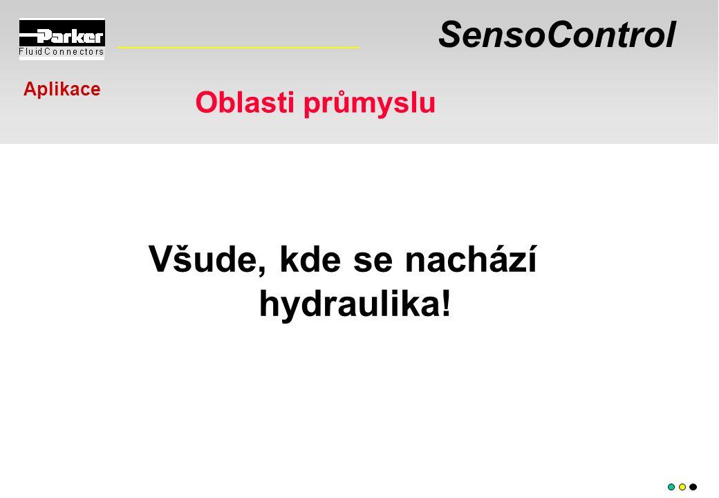 SensoControl Všude, kde se nachází hydraulika! Oblasti průmyslu Aplikace