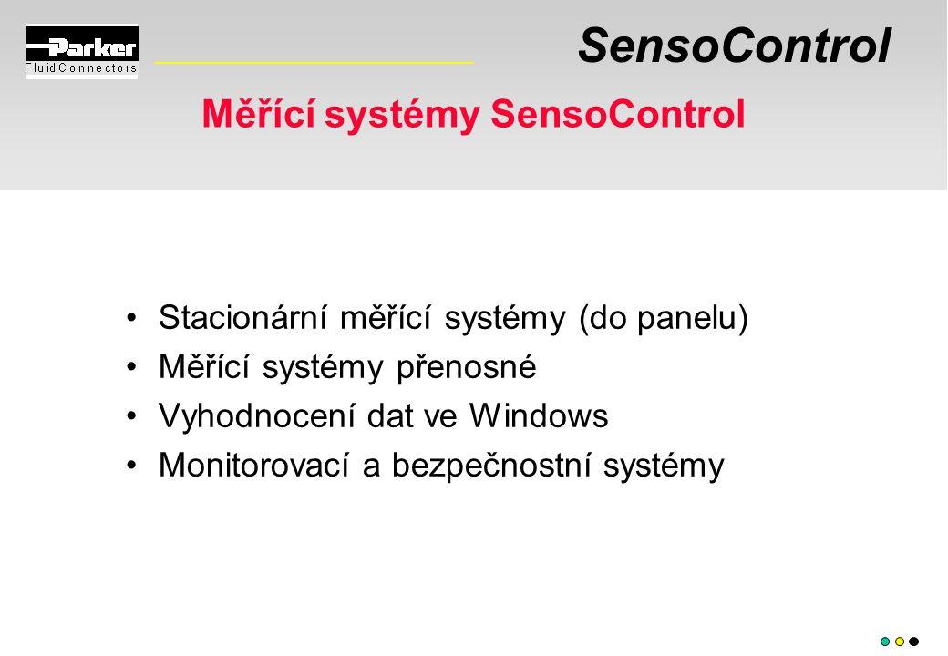 SensoControl Měřící systémy SensoControl Stacionární měřící systémy (do panelu) Měřící systémy přenosné Vyhodnocení dat ve Windows Monitorovací a bezpečnostní systémy