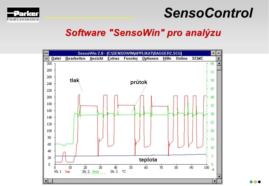 SensoControl tlak průtok teplota Software