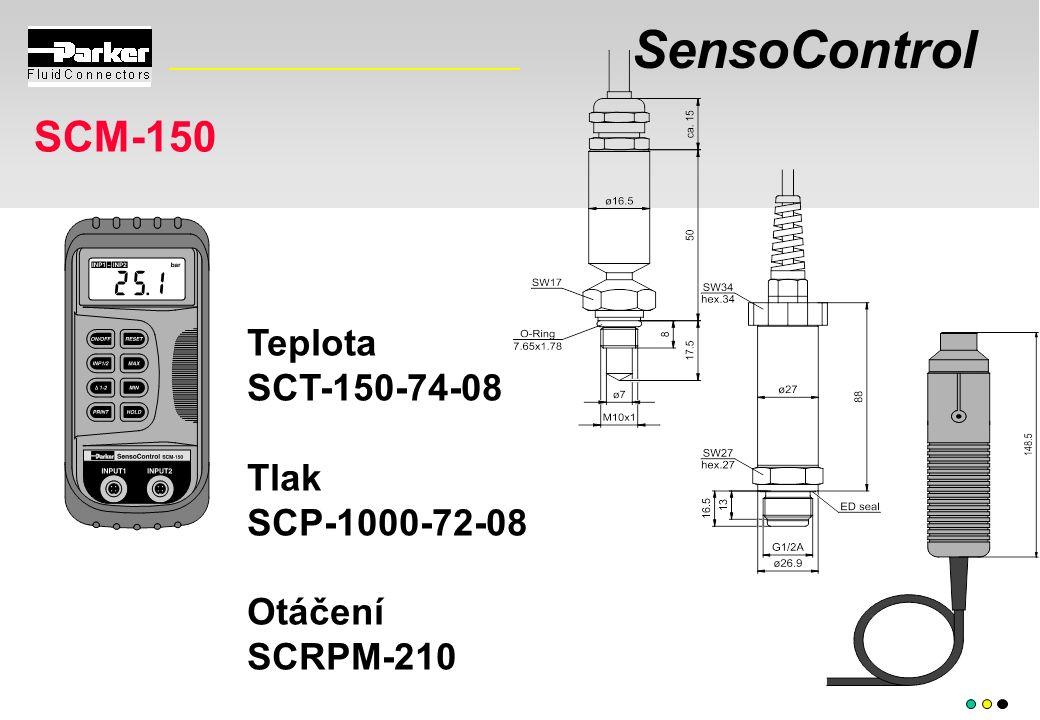 SensoControl SCM-150 Teplota SCT-150-74-08 Tlak SCP-1000-72-08 Otáčení SCRPM-210