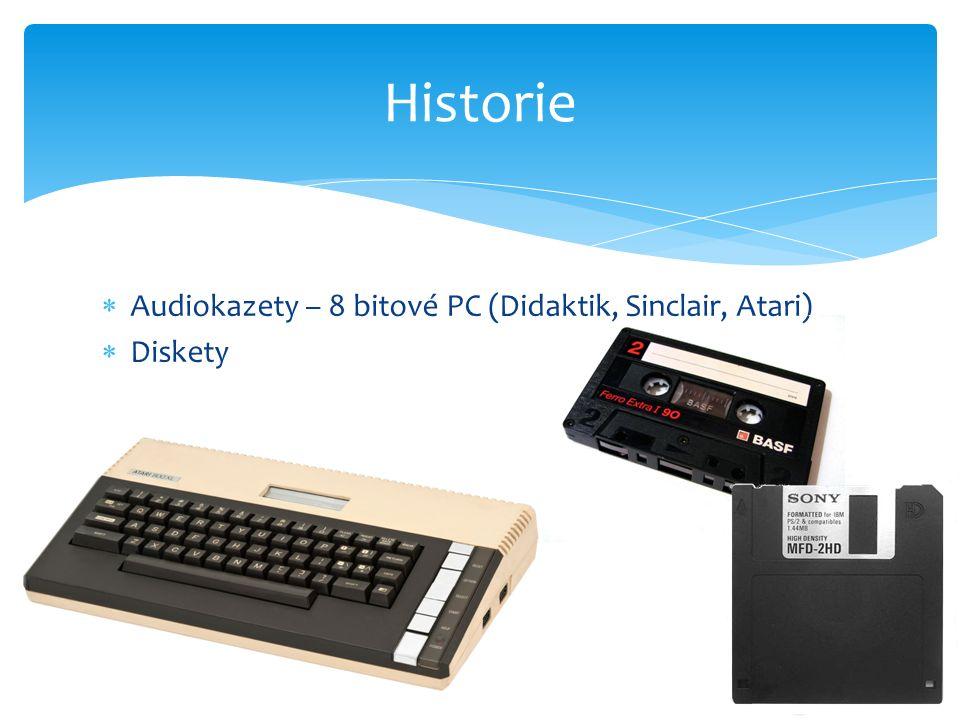  Audiokazety – 8 bitové PC (Didaktik, Sinclair, Atari)  Diskety Historie