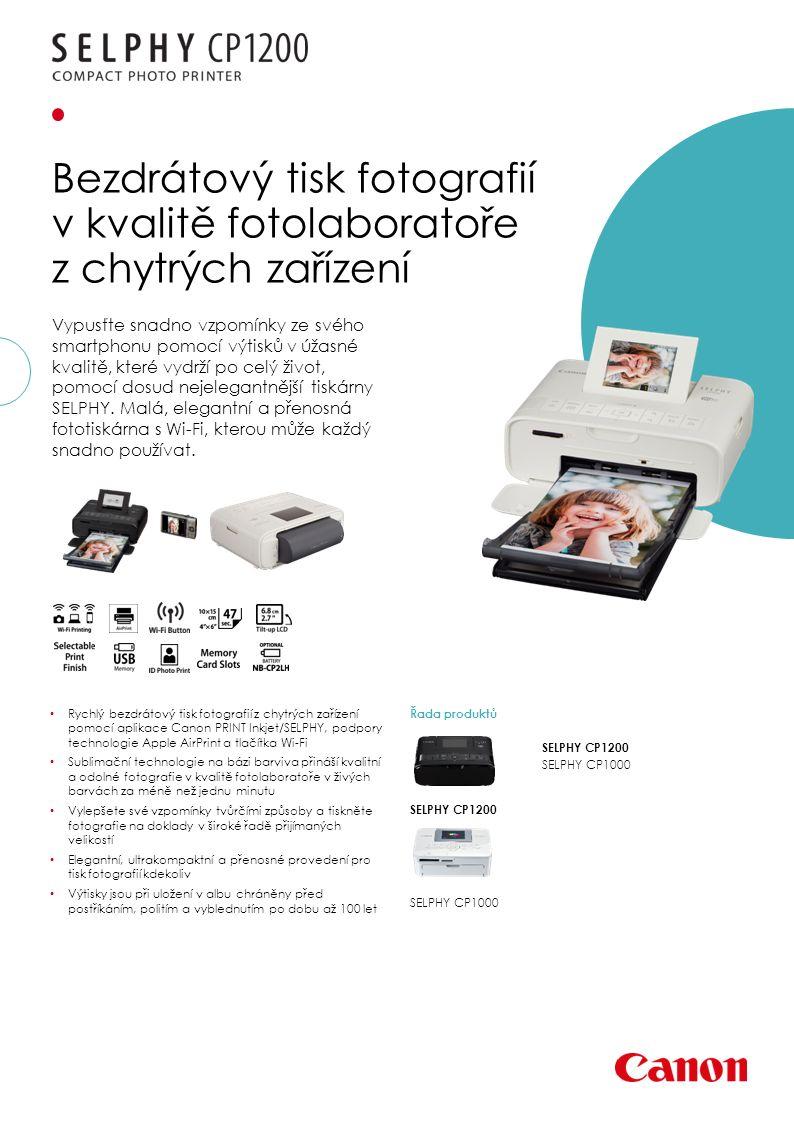 Vypusťte snadno vzpomínky ze svého smartphonu pomocí výtisků v úžasné kvalitě, které vydrží po celý život, pomocí dosud nejelegantnější tiskárny SELPHY.