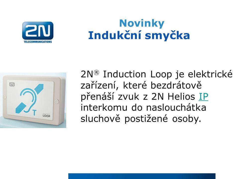 Novinky Indukční smyčka 2N ® Induction Loop je elektrické zařízení, které bezdrátově přenáší zvuk z 2N Helios IP interkomu do naslouchátka sluchově po