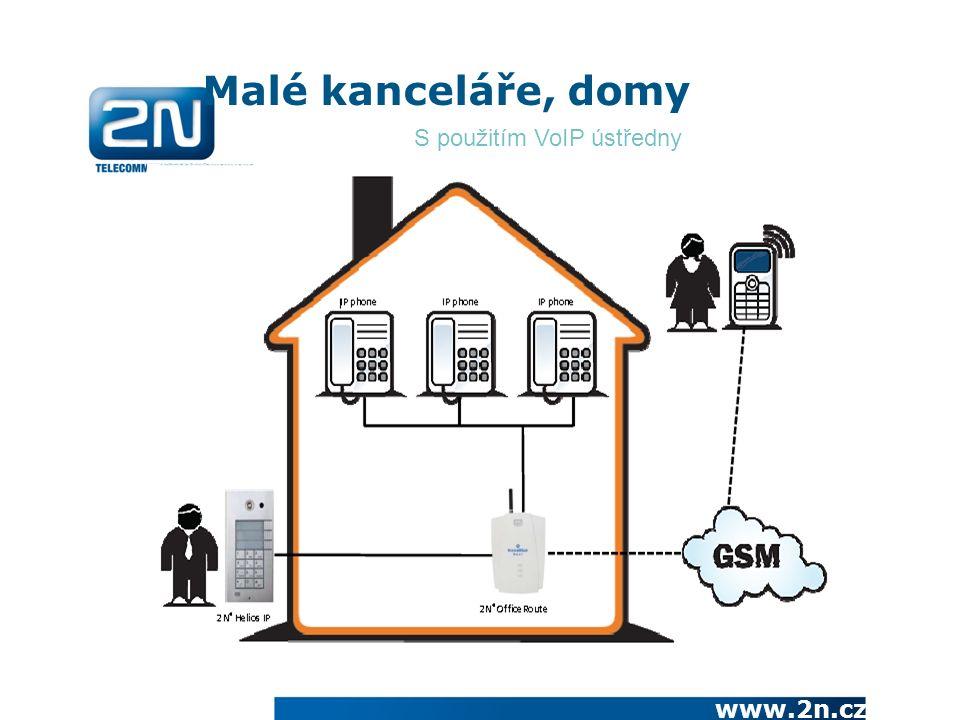 www.2n.cz Malé kanceláře, domy S použitím VoIP ústředny
