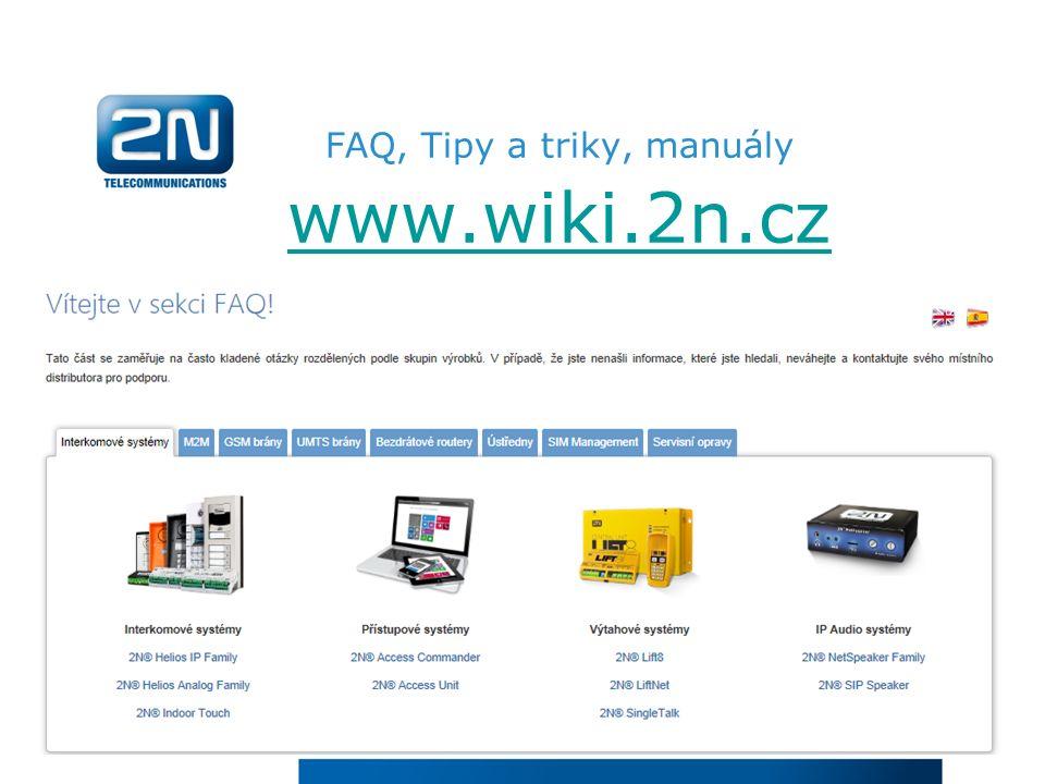 FAQ, Tipy a triky, manuály www.wiki.2n.cz www.wiki.2n.cz
