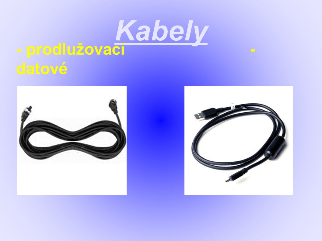 Kabely - prodlužovací- datové