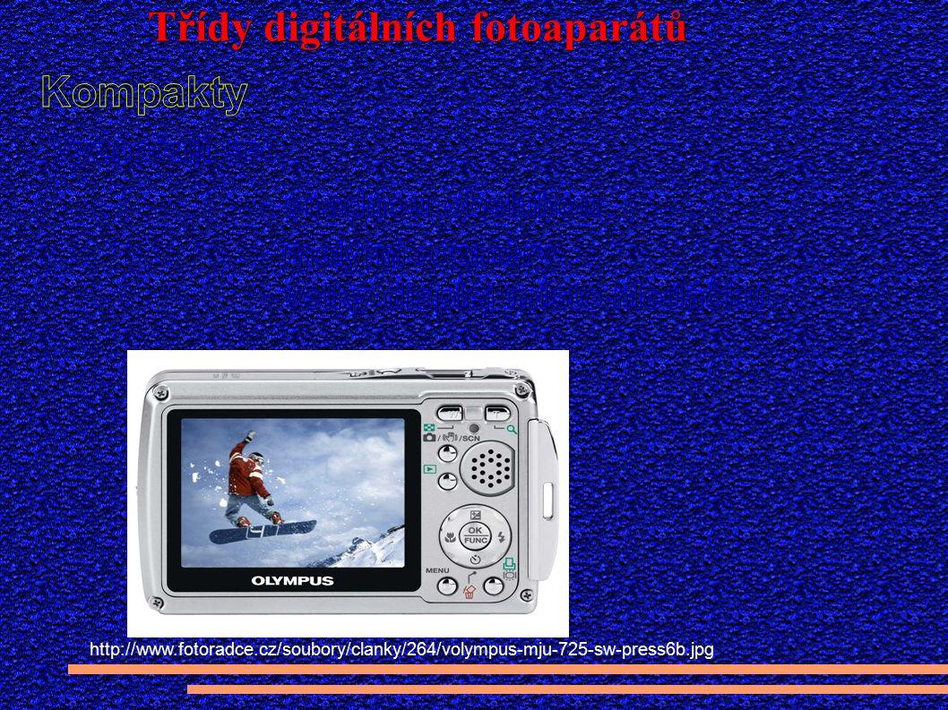 Třídy digitálních fotoaparátů http://www.fotoradce.cz/soubory/clanky/264/volympus-mju-725-sw-press6b.jpg