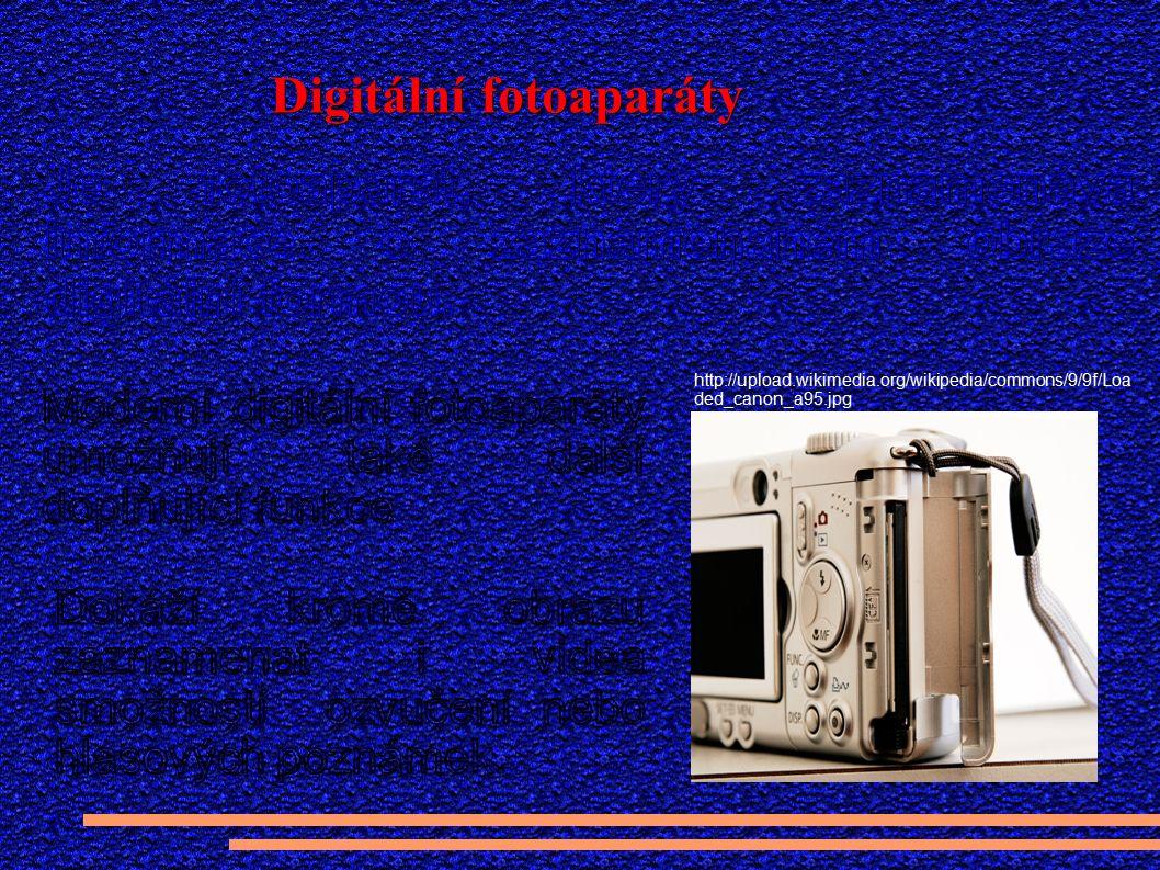 Funkce digitálního fotoaparátu Autor kresby Peter Welleman