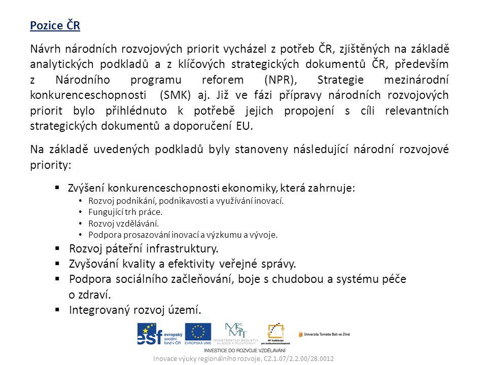 Vymezení operačních programů 2014 -2020 Principy pro programové období 2014–2020 Princip strategického zaměření a propojování Cíle a priority plněné v budoucnu budou podřízeny naplňování strategie Evropa 2020, NPR a SMK.