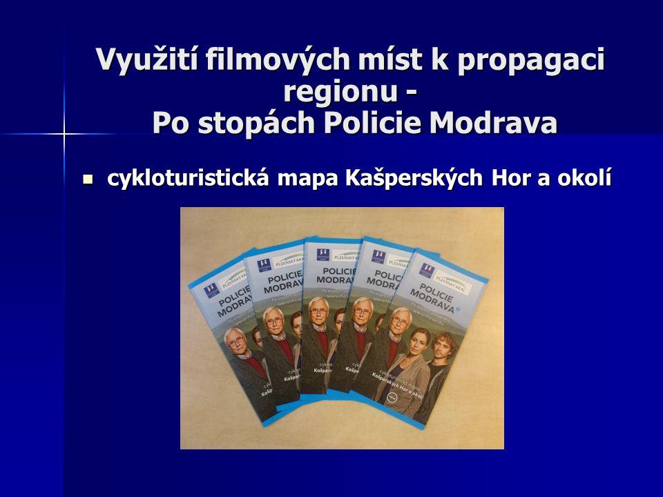 Využití filmových míst k propagaci regionu - Po stopách Policie Modrava cykloturistická mapa Kašperských Hor a okolí cykloturistická mapa Kašperských Hor a okolí