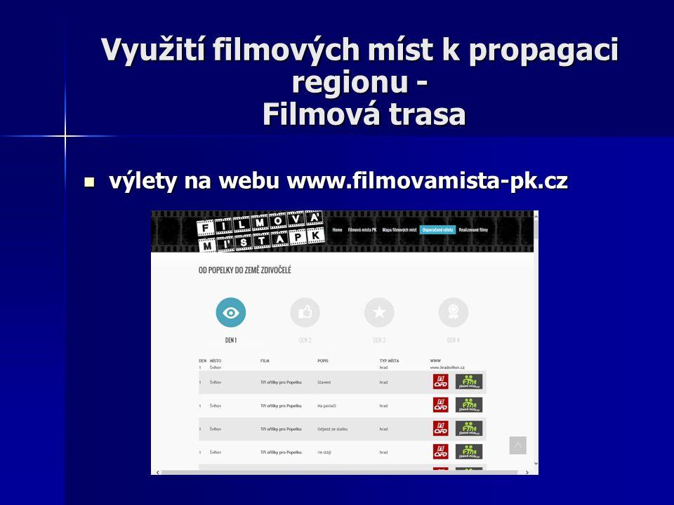 Využití filmových míst k propagaci regionu - Filmová trasa výlety na webu www.filmovamista-pk.cz výlety na webu www.filmovamista-pk.cz