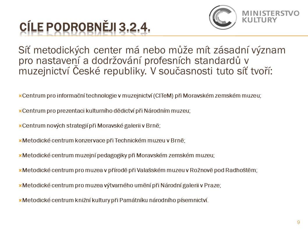 Síť metodických center má nebo může mít zásadní význam pro nastavení a dodržování profesních standardů v muzejnictví České republiky.