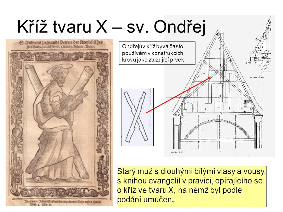 Kříž tvaru X – sv.